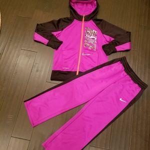 Girls NIIKE sweatsuit Jacket szL Pants M
